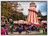 Traditional fairground attractions at Wimborne Food Festival
