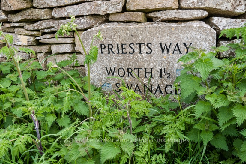 Stone sign on the Priest's Way