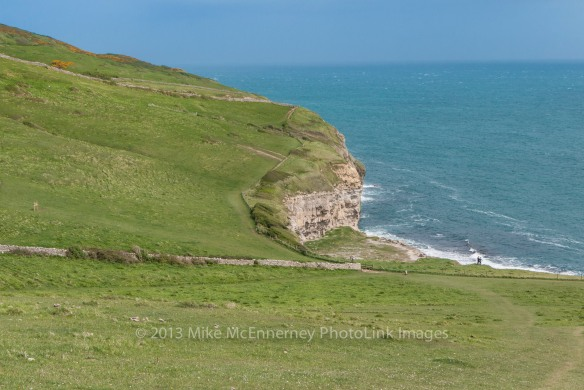 View above Dancing Ledge