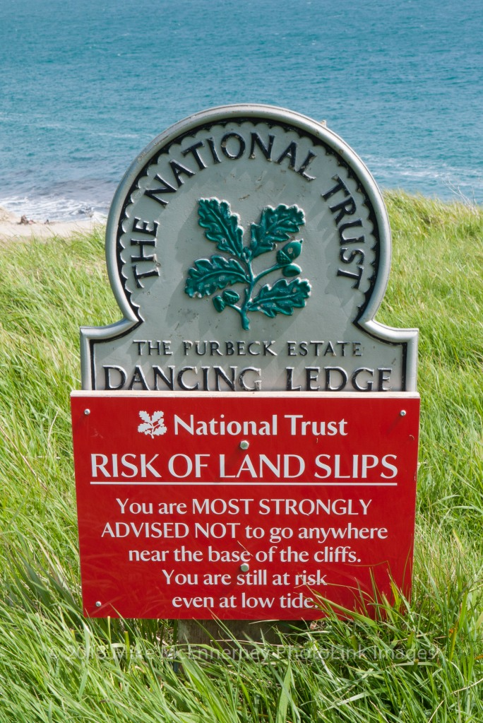 National Trust warning sign