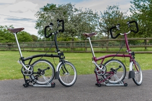 Bromptons parked