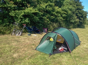 Peaceful (eventually) campsite, South Wraxall