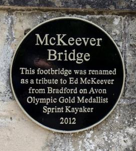 Plaque on McKeever Bridge