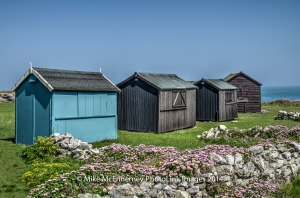 Beach huts on Portland Bill, Dorset