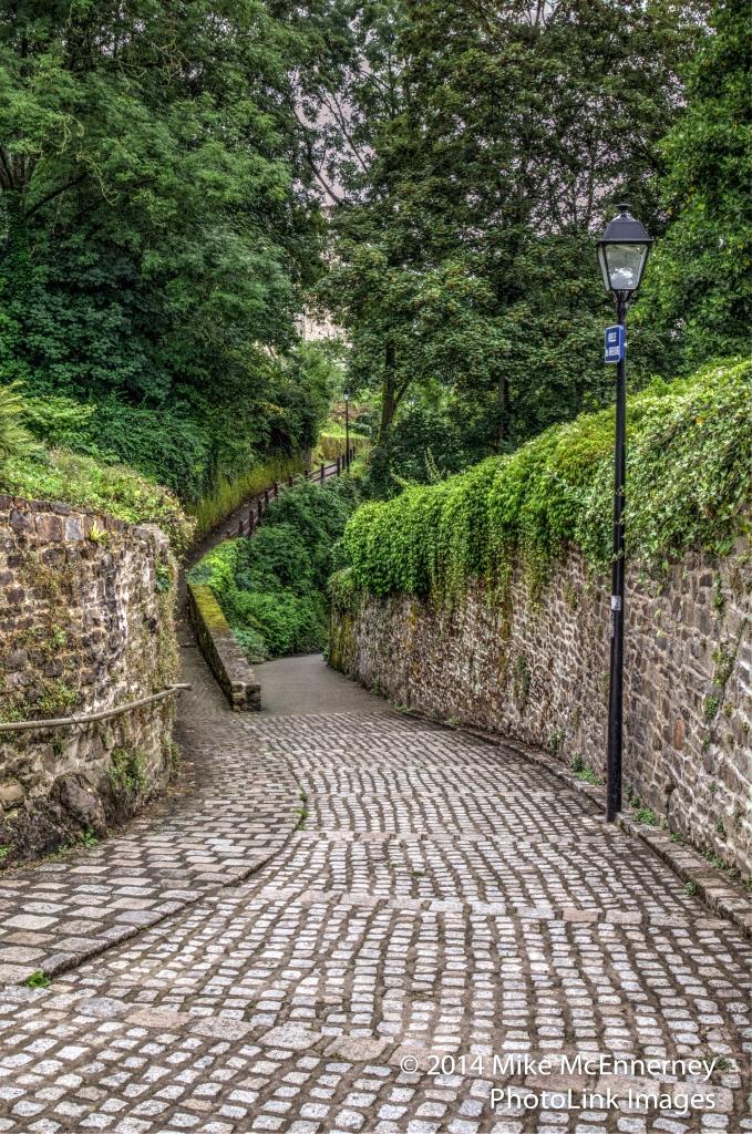 Cobbled street Fougères