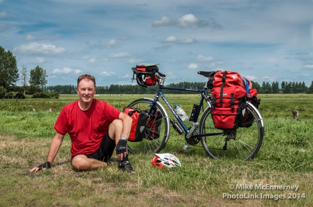 The Pedalling Photographer on his way to Mont St Michel!