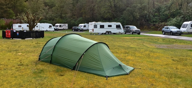 Oban campsite - we're surrounded by tin tents!