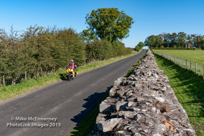 Cycling alongside Hadrian's Wall
